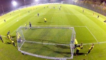 Fußballtraining: Übung zum Umschaltspiel im 3 gegen 2