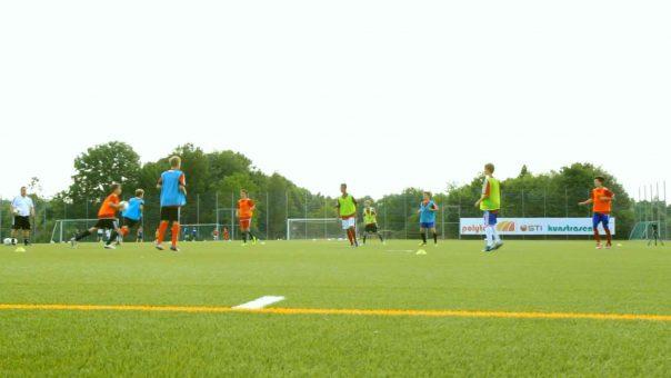 Das Dreifarbenspiel: Fußballübung für die C- und B-Jugend