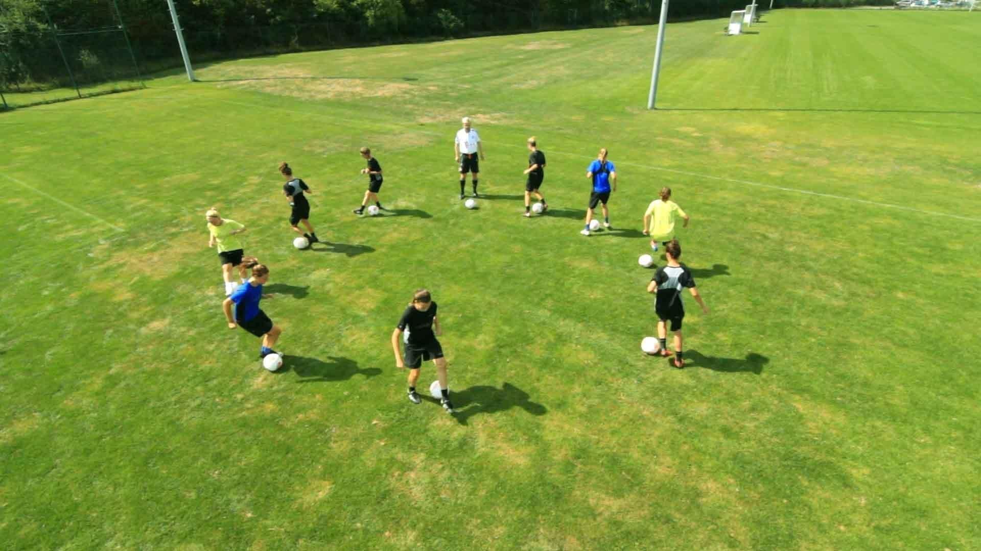 Bewegungsmuster 1 & Fußballtricks: Die Schere