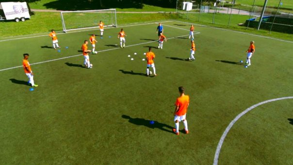 Dribbling und Richtungswechsel ↔️ im Technikerkreis ⭕ Jugend-Fussballtraining ⚽