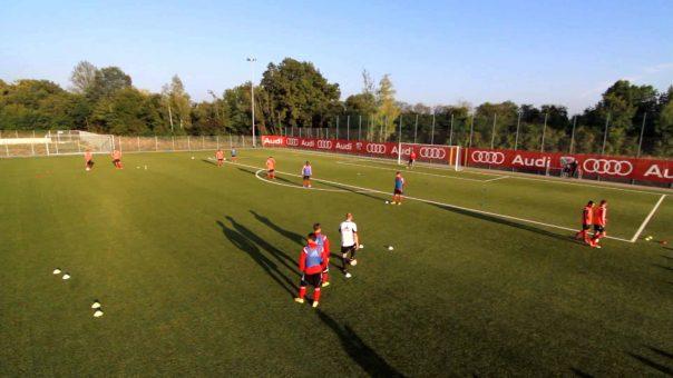 Technisch-Taktische Übungsform (TTÜ) für Fußballmannschaften (Ausschnitt)