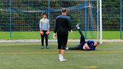 "Fußball-Torwarttraining-Übung: ""Verdeckter Torwart"""