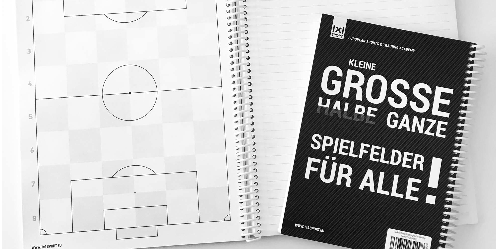 1x1SPORT PLAYBOOK #FUSSBALL | Spielfeldvorlagen & Trainingshilfen für Fussballtrainer