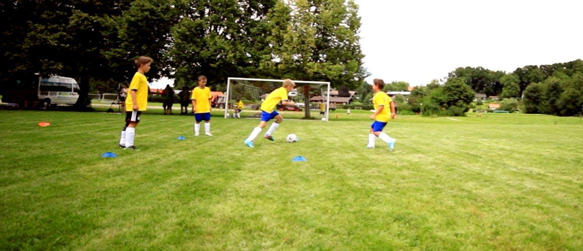 Fußballübung zur offenen Stellung  / E- und D-Jugend