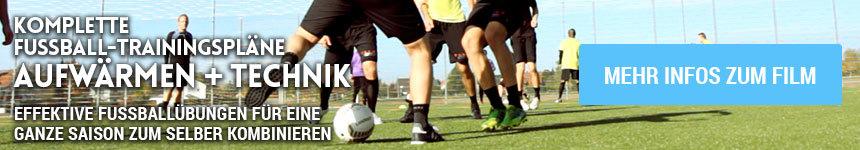Zum Film: Komplette Fußballtrainingspläne - Aufwärmen & Technik