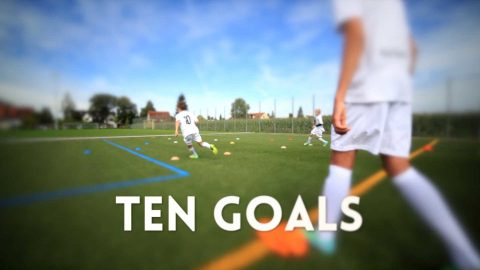 Ten Goals: Fußballtraining zur Verbesserung von Tempo und Entscheidungsfindung