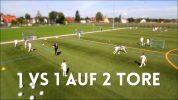 Fussballtraining: 1 vs 1 auf 2 Tore