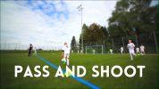 Fussballtraining Abschlussspiele: Pass and Shoot