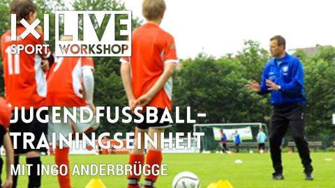 Jugendfussball-Trainingseinheit
