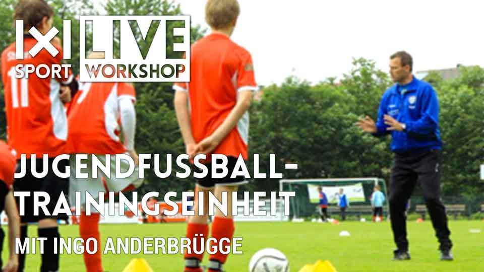 Jugendfussball-Trainingseinheit