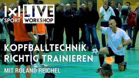 Kopfballtechnik richtig trainieren