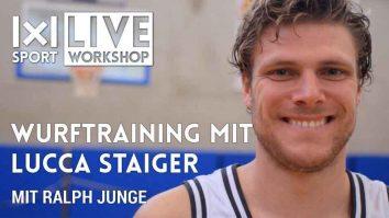 Wurftraining mit Lucca Staiger